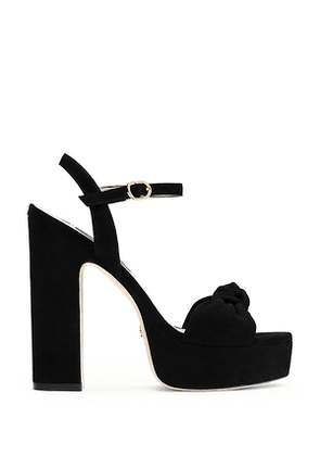 Stuart Weitzman - The Mirri 140 Sandal In Black - Size 40.5