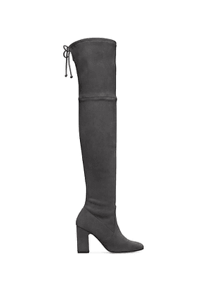 Stuart Weitzman - The Kirstie 90 Boot In Slate Medium Gray - Size 37