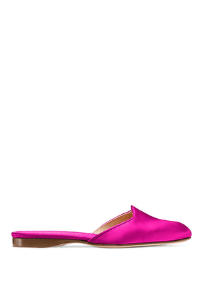 Stuart Weitzman - The Muletown Mule In Grape Fuchsia - Size 41