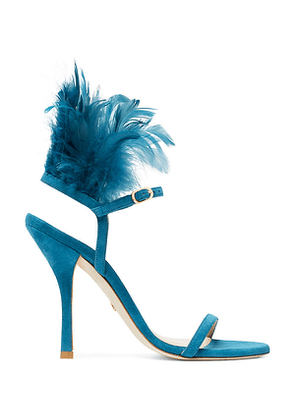Stuart Weitzman - The Ricki Sandal In Peacock Aqua Blue - Size 40