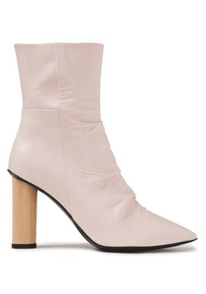 Iro Nazca Ruched Leather Ankle Boots Woman Pastel pink Size 38