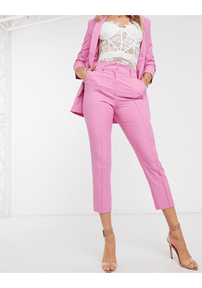 ASOS DESIGN tailored smart mix & match cigarette suit trousers-Pink