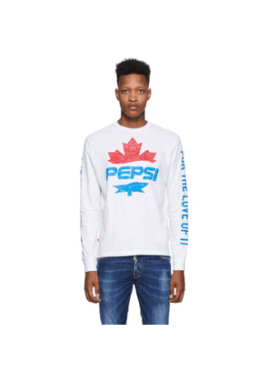 Dsquared2 White Pepsi Edition Surf Fit Long Sleeve T-Shirt