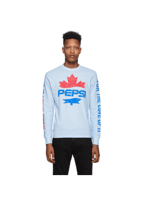 Dsquared2 Blue Pepsi Edition Surf Fit Long Sleeve T-Shirt
