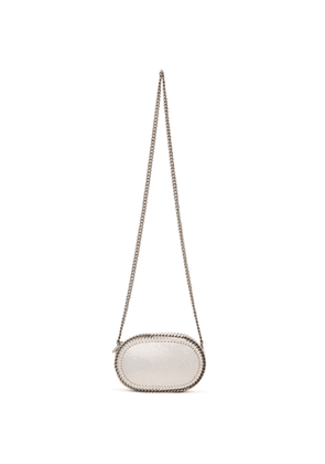 Stella McCartney Off-White Holographic Oval Falabella Shoulder Bag
