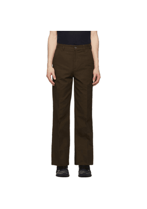 Gucci Brown Flared Washed Trousers