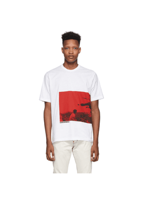 Dsquared2 White Printed Slouch Fit T-Shirt