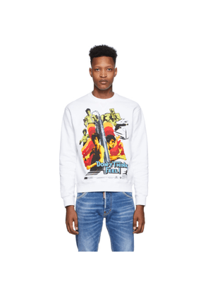 Dsquared2 White Bruce Lee Printed Cool Fit Sweatshirt