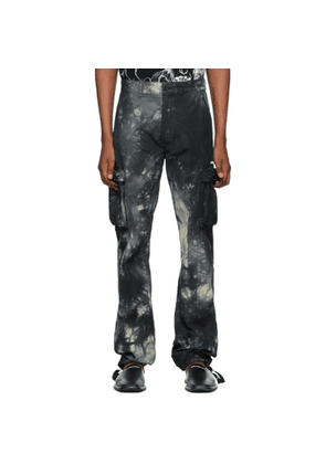 Off-White Blue Tie-Dye Contour Cargo Pants