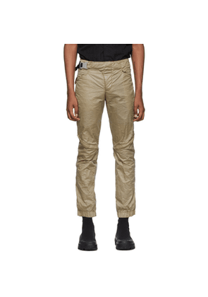 1017 ALYX 9SM Tan Crescent Zip Trousers