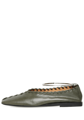 10mm Stitched Leather Flats