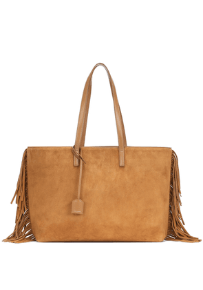 East West fringed suede tote