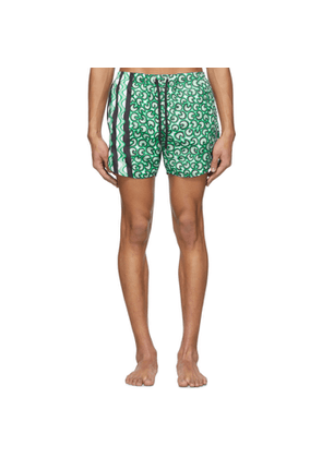 Neil Barrett Green Artist Dots Swim Shorts