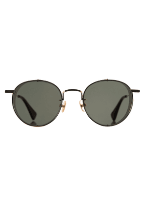 C&P x Motoluxe Golden Steel Side Shield Sunglasses