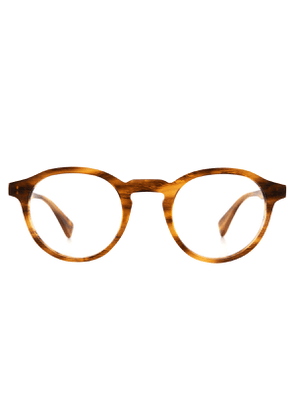 Honey Stripe Alex Natural Cellulose Optical Glasses Frames