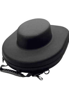 Black Glossy Neoprene Hat Case