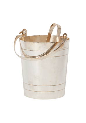 Vintage Silver-Plated Ice Bucket and Tongs