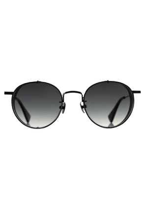 C&P x Motoluxe Gunmetal Steel Side Shield Sunglasses