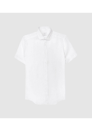 Reiss Holiday - Linen Slim Fit Shirt in White, Mens, Size S