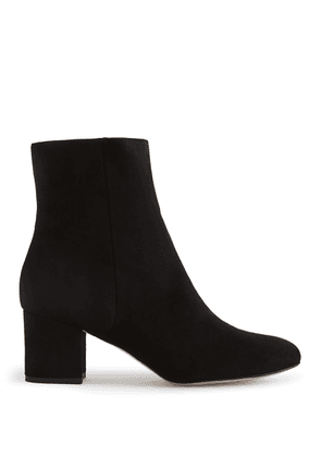 Reiss Delphine - Suede Block Heeled Ankle  Boots in Black, Womens, Size 3