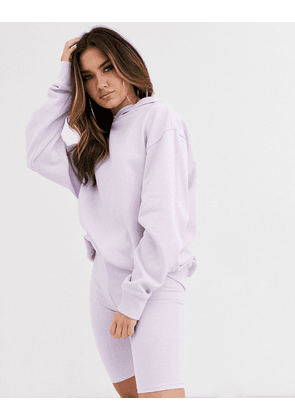 ASOS DESIGN co-ord oversized hoodie in Lilac-Purple