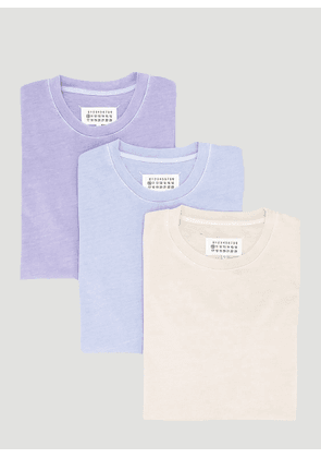 Maison Margiela Pack-Of-Three T-Shirts in Beige size L