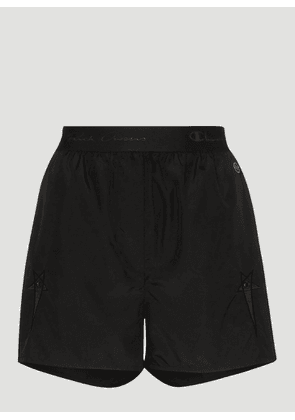 Rick Owens x Champion Dolphin Boxers Shorts in Black size XS