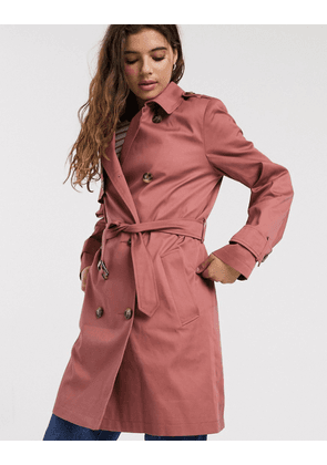 ASOS DESIGN trench coat in dusty rose-Pink