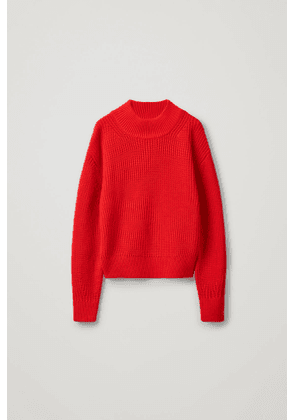 WOOL-COTTON KNITTED SWEATER