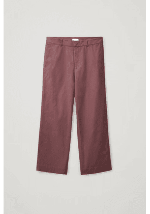 WIDE ORGANIC-COTTON TROUSERS