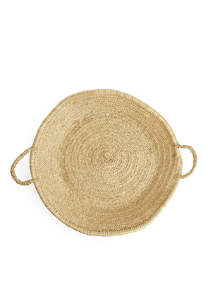 Household Hardware Flat Basket - Beige