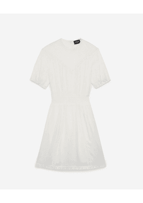 The Kooples - Flowing short formal dress with lace detail - WOMEN