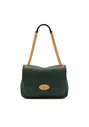 Mulberry Darley Shoulder Bag in Mulberry Green Heavy Grain