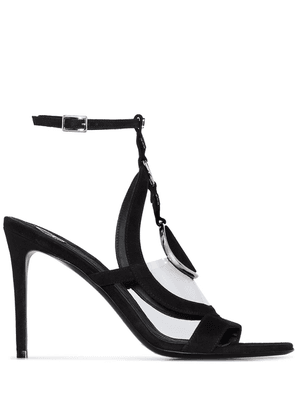 Balmain circle emblem 95mm sandals - Black