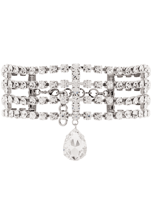 Alessandra Rich crystal-embellished choker necklace - SILVER