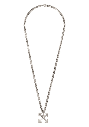 Off-White Arrows link chain necklace - SILVER