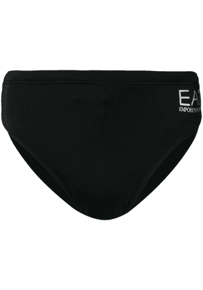 Ea7 Emporio Armani printed logo swimming trunks - Black