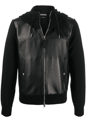 Tom Ford hooded zip-up jacket - Black