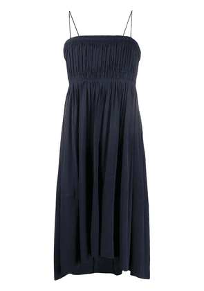Chloé smocked asymmetric dress - Blue