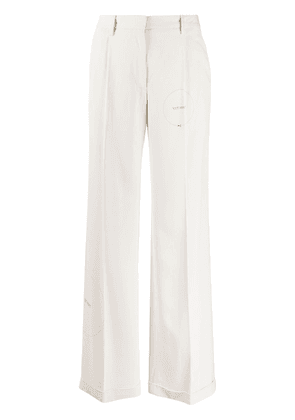 Off-White cut here palazzo pant - NEUTRALS