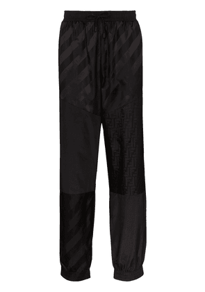 Fendi Monogram logo track pants - Black