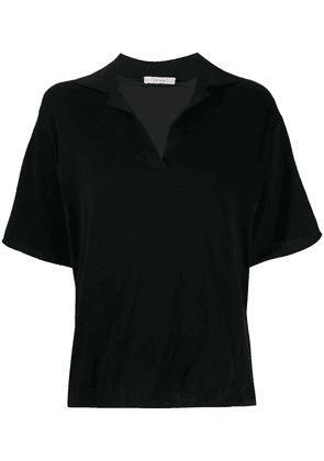 The Row boxy-fit polo top - Black
