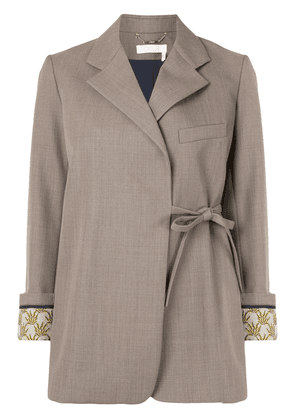 Chloé side tie blazer - Brown