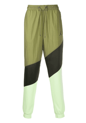 Jordan panelled track pants - Green