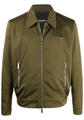 Dsquared2 logo lettering zipped jacket - Green