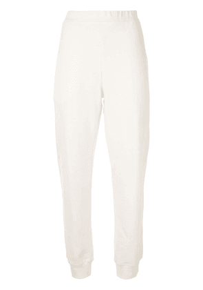 The Row Azila tapered track pants - NEUTRALS