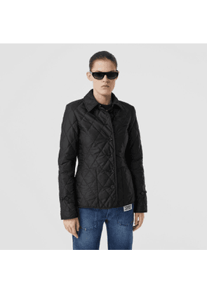 Burberry Diamond Quilted Thermoregulated Jacket, Black
