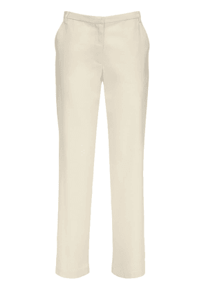 Cape Wool Blend Twill Straight Pants