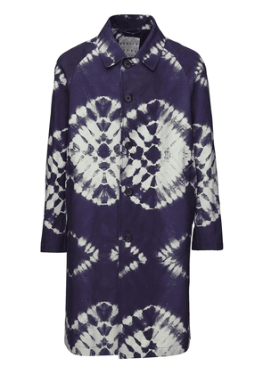 Tie Dye Printed Cotton Trench Coat