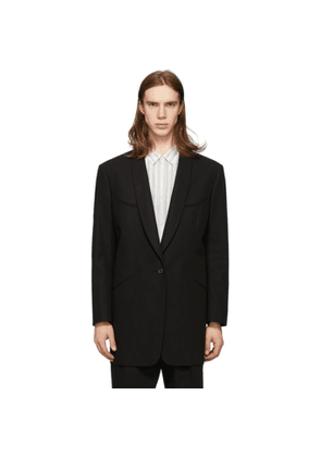 Maison Margiela Black Cotton Twill Blazer